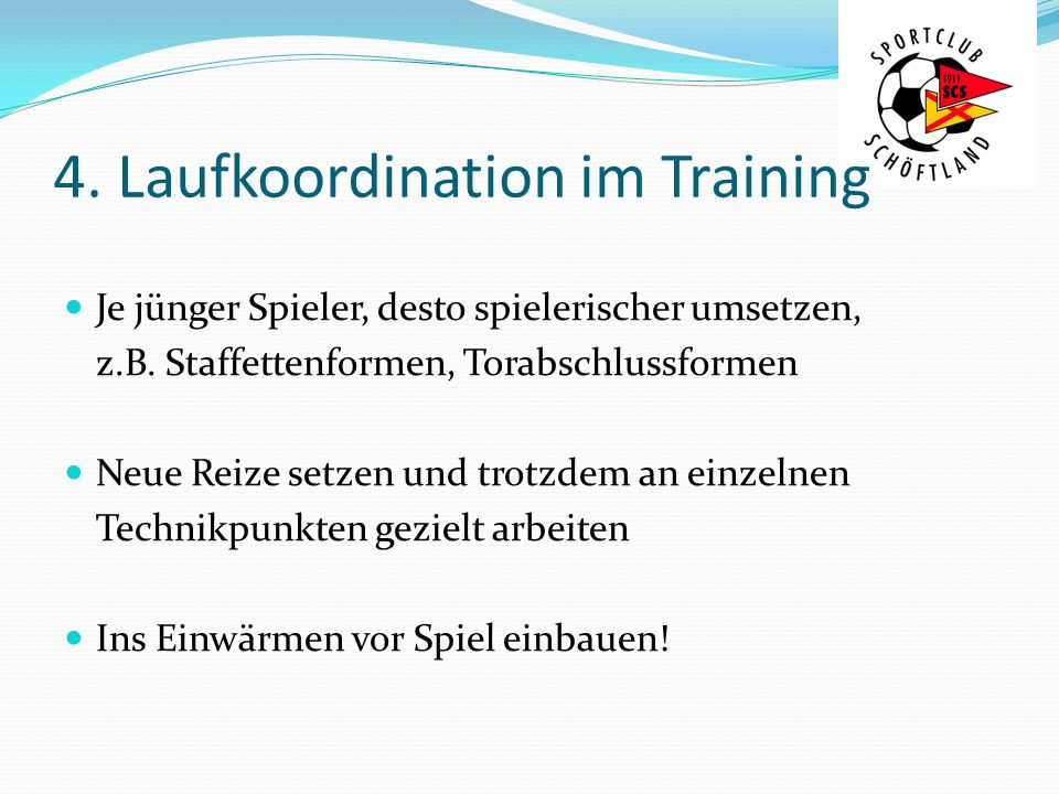 4. Laufkoordination im Training