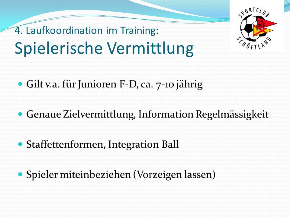 4. Laufkoordination im Training: Spielerische Vermittlung