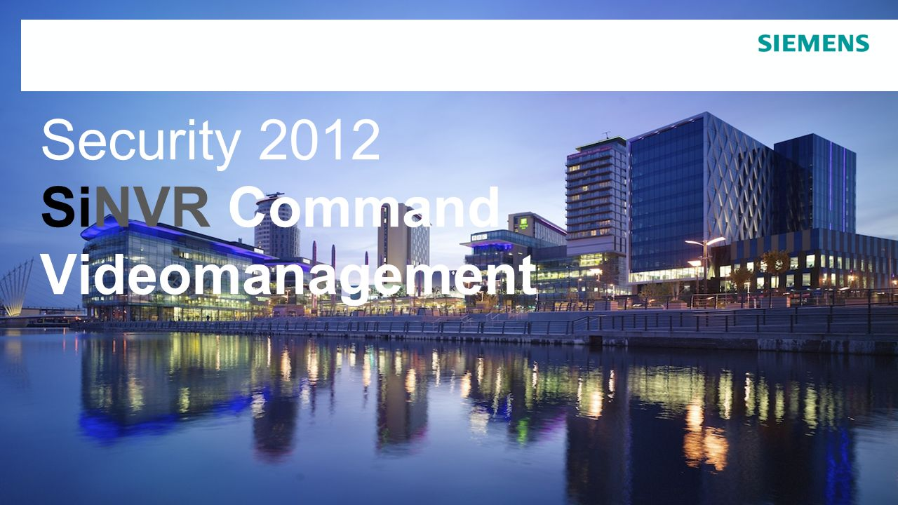 Security 2012 SiNVR Command Videomanagement