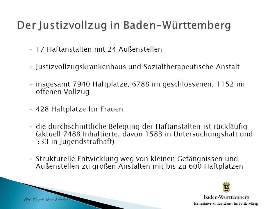 Der Justizvollzug in Baden-Württemberg