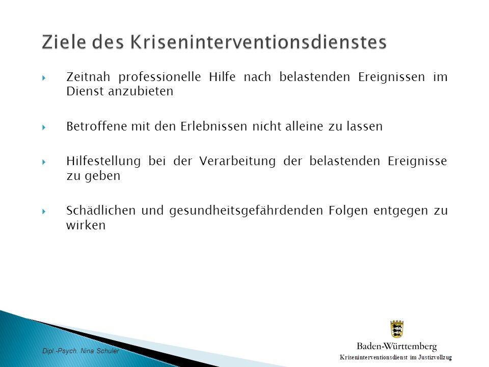 Ziele des Kriseninterventionsdienstes