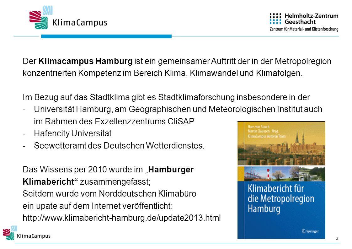 Der Klimacampus Hamburg ist ein gemeinsamer Auftritt der in der Metropolregion konzentrierten Kompetenz im Bereich Klima, Klimawandel und Klimafolgen.