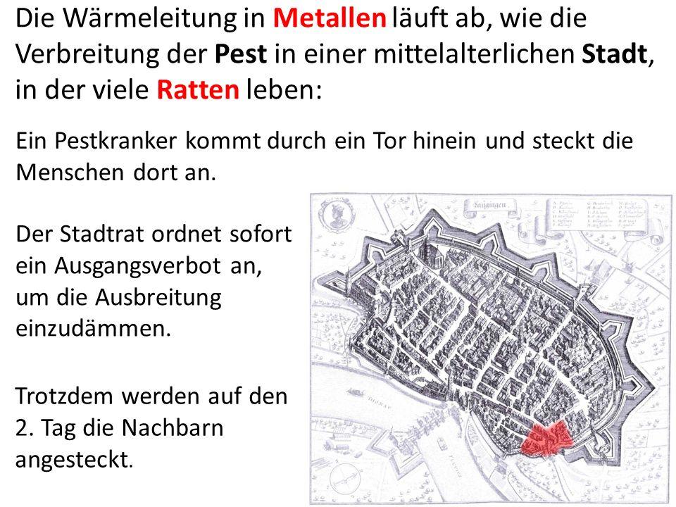 Die Wärmeleitung in Metallen läuft ab, wie die Verbreitung der Pest in einer mittelalterlichen Stadt, in der viele Ratten leben: