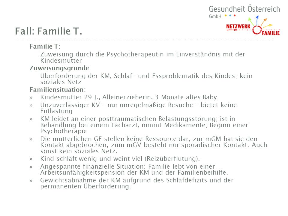 Fall: Familie T. Familie T: