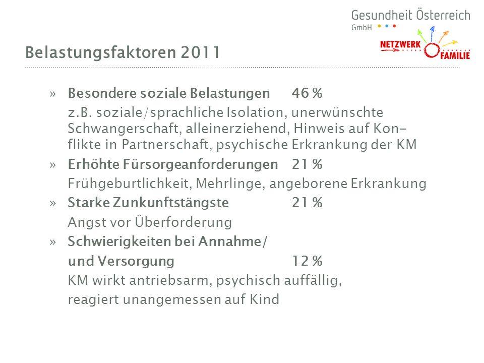 Belastungsfaktoren 2011 Besondere soziale Belastungen 46 %