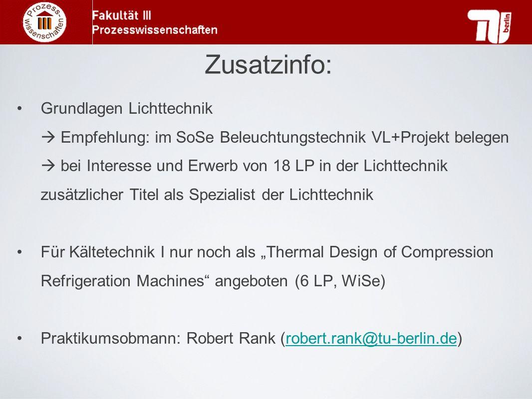 Zusatzinfo: Grundlagen Lichttechnik
