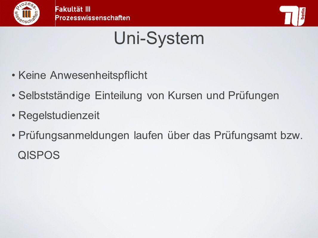 Uni-System Keine Anwesenheitspflicht