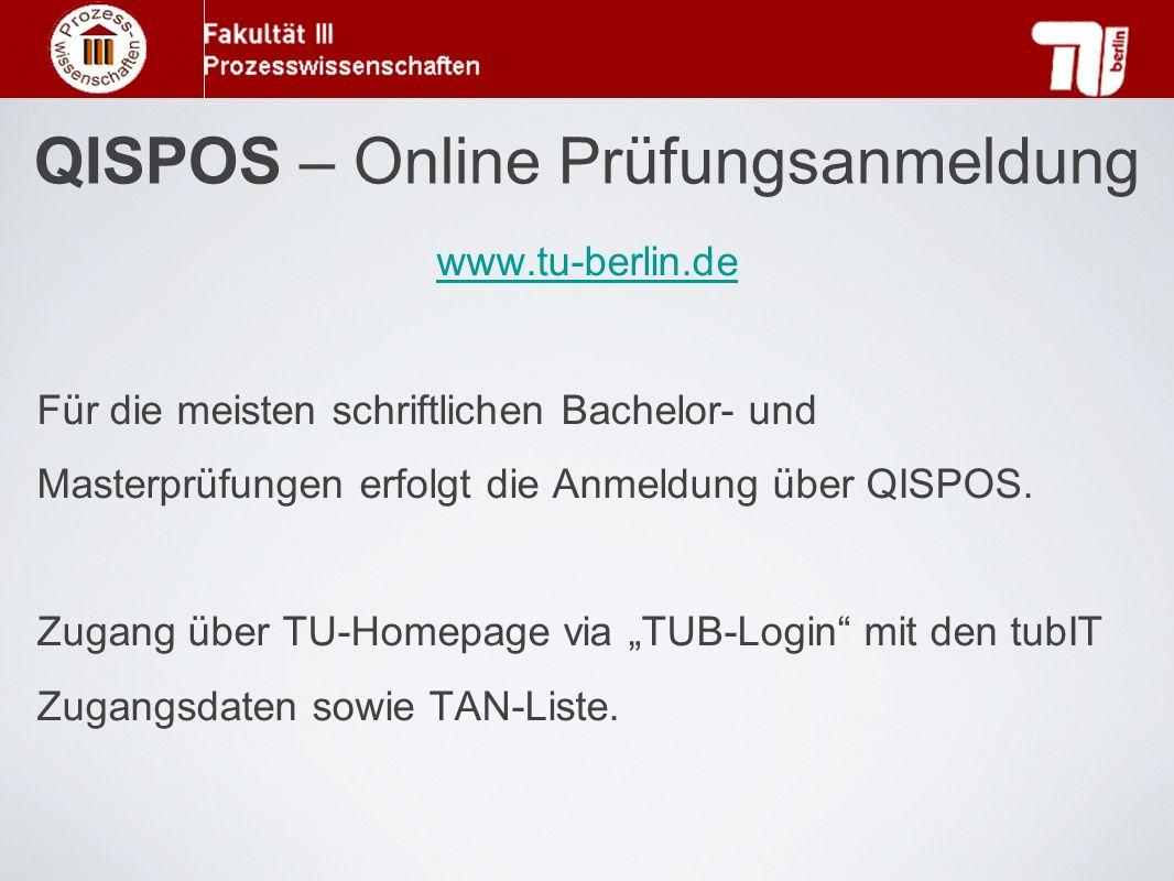 QISPOS – Online Prüfungsanmeldung