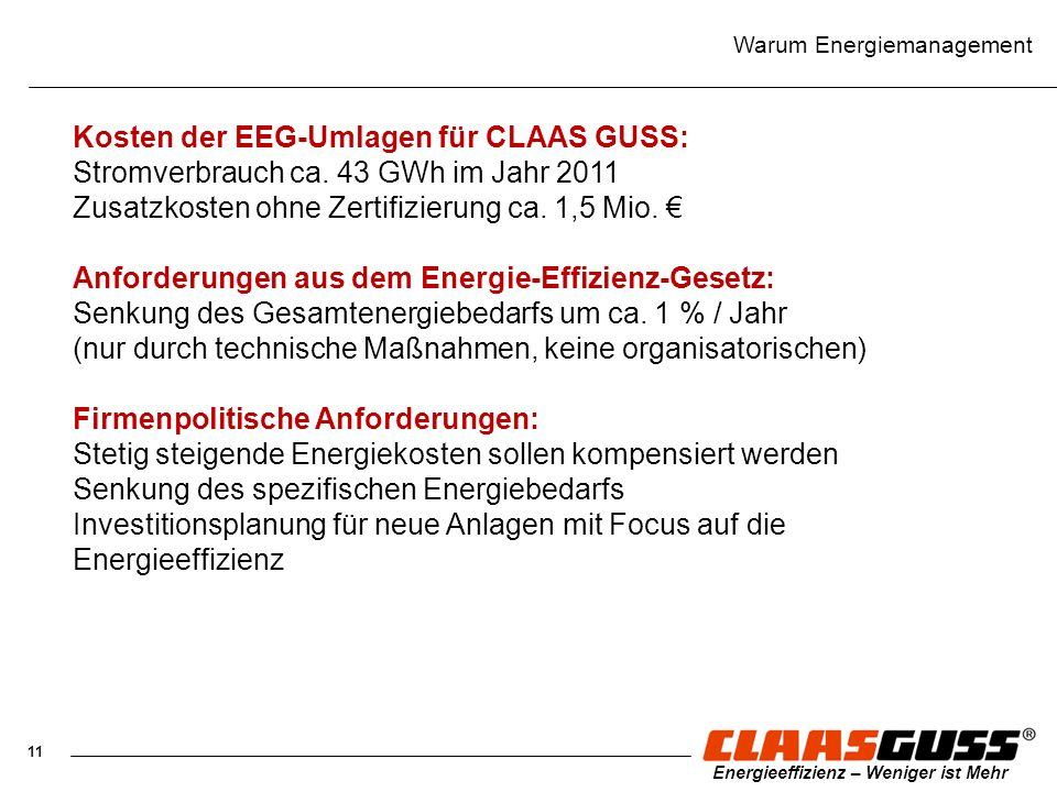 Warum Energiemanagement