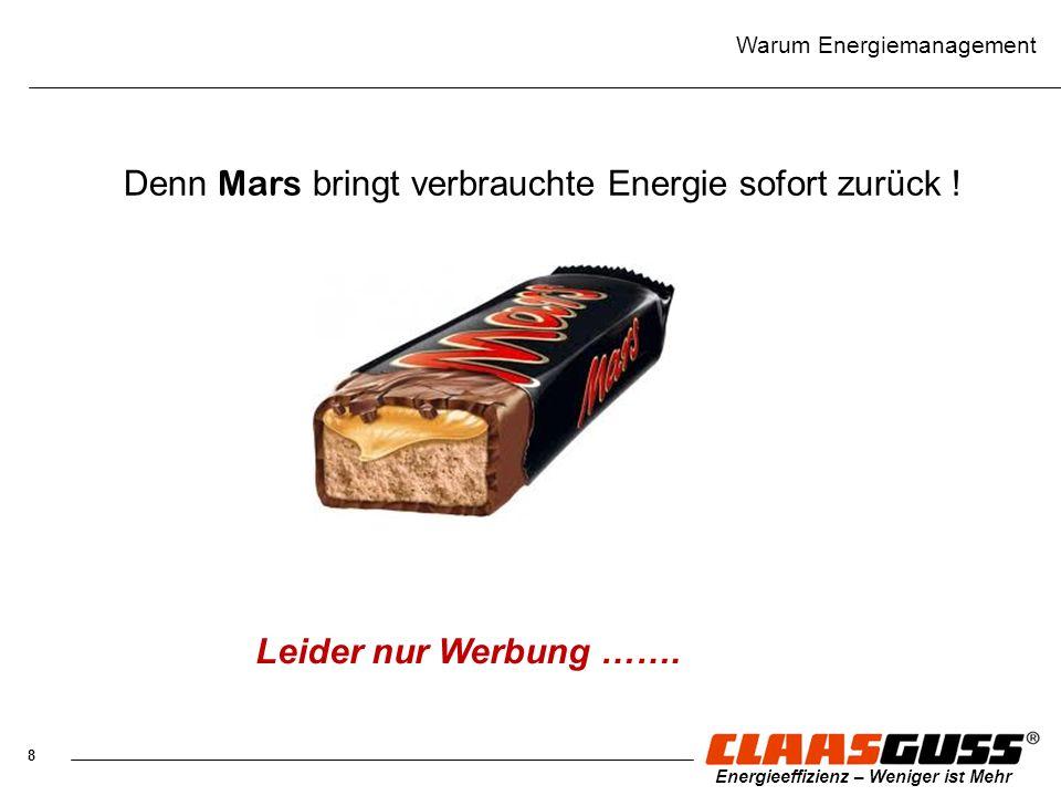 Denn Mars bringt verbrauchte Energie sofort zurück !