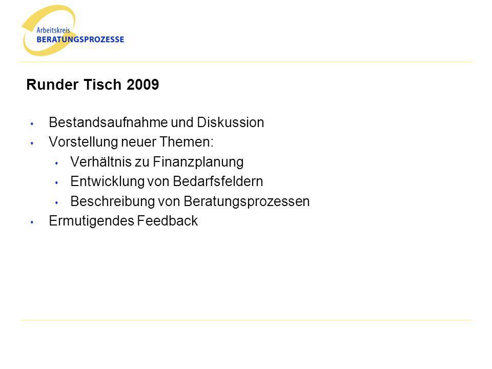 Agenda Historie des Arbeitskreises Runder Tisch 2009