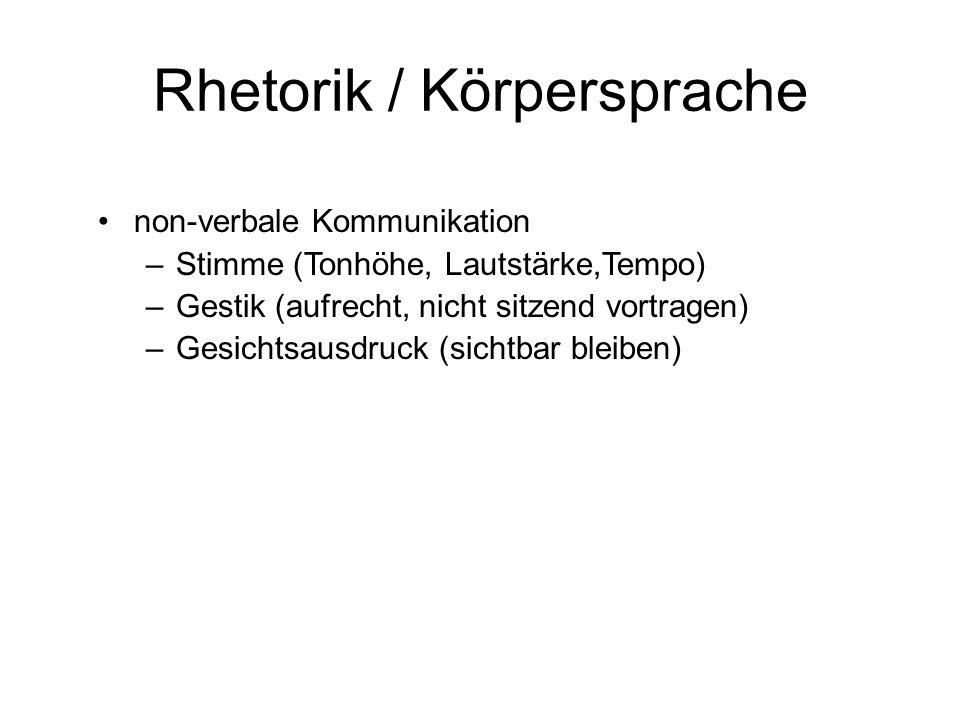 Rhetorik / Körpersprache