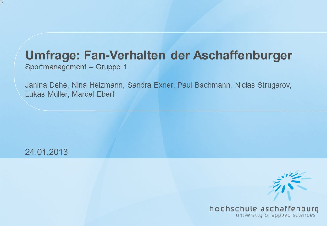 Umfrage: Fan-Verhalten der Aschaffenburger