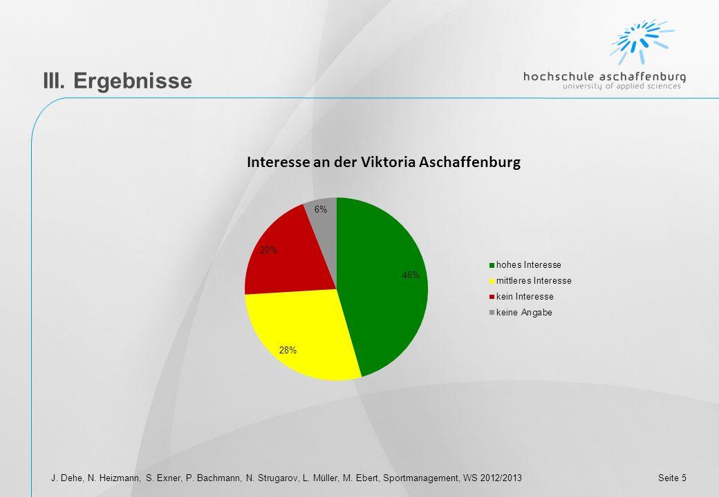 III. Ergebnisse J. Dehe, N. Heizmann, S. Exner, P.
