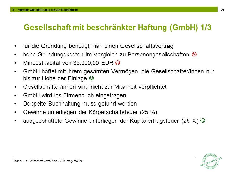 Gesellschaft mit beschränkter Haftung (GmbH) 1/3