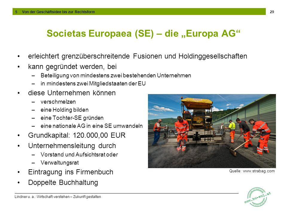 "Societas Europaea (SE) – die ""Europa AG"