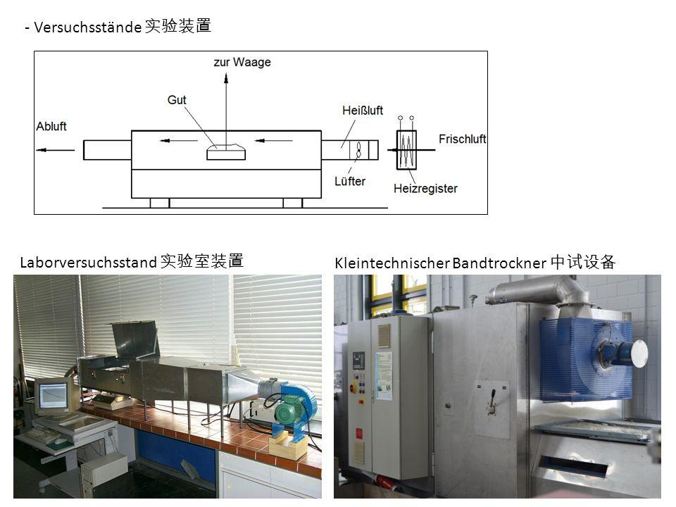 - Versuchsstände 实验装置 Laborversuchsstand 实验室装置 Kleintechnischer Bandtrockner 中试设备