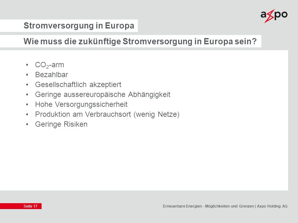 Stromversorgung in Europa