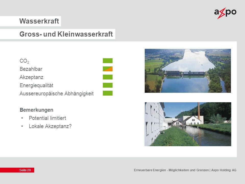 Gross- und Kleinwasserkraft