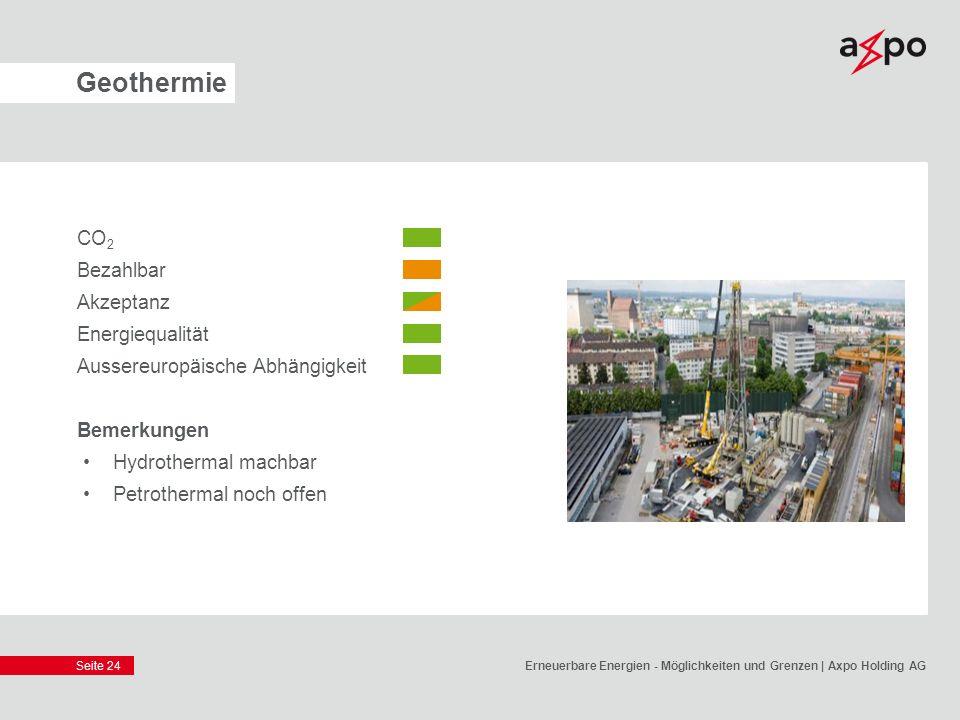 Geothermie CO2 Bezahlbar Akzeptanz Energiequalität