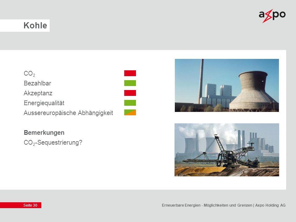 Kohle CO2 Bezahlbar Akzeptanz Energiequalität