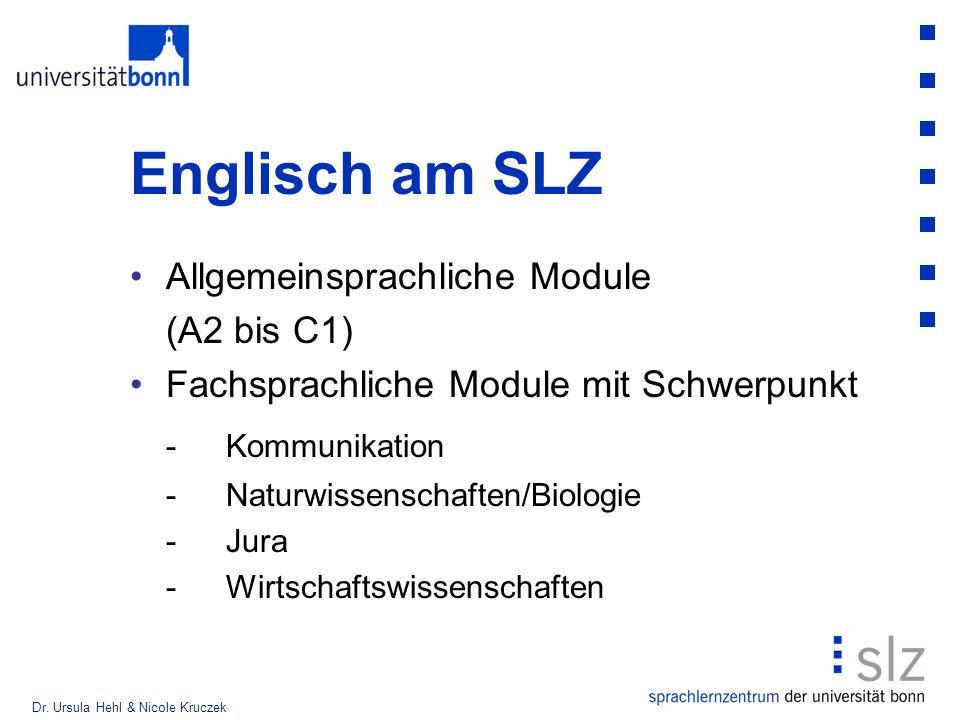 Englisch am SLZ - Kommunikation Allgemeinsprachliche Module