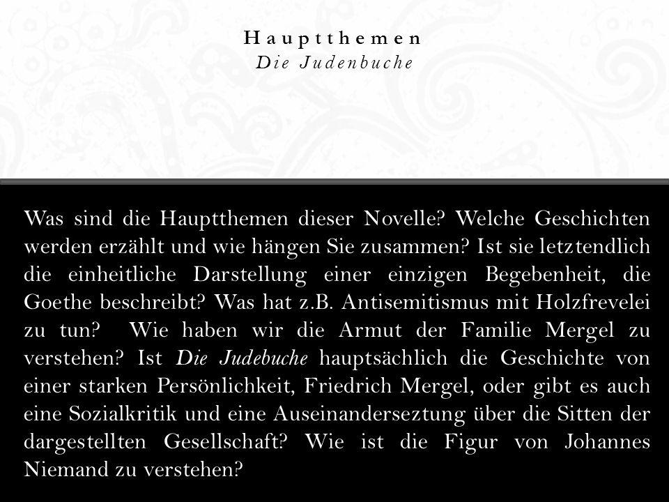 Hauptthemen Die Judenbuche.