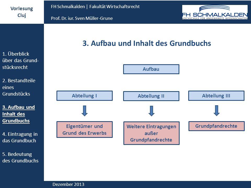 3. Aufbau und Inhalt des Grundbuchs