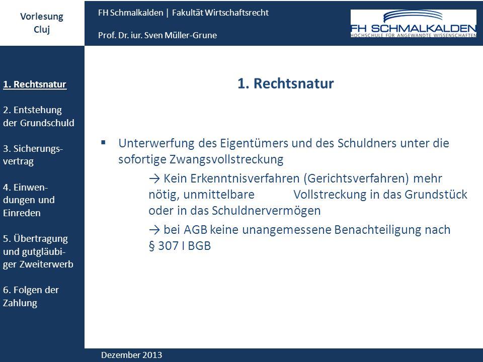 Vorlesung Cluj. FH Schmalkalden │ Fakultät Wirtschaftsrecht. Prof. Dr. iur. Sven Müller-Grune. 1. Rechtsnatur.