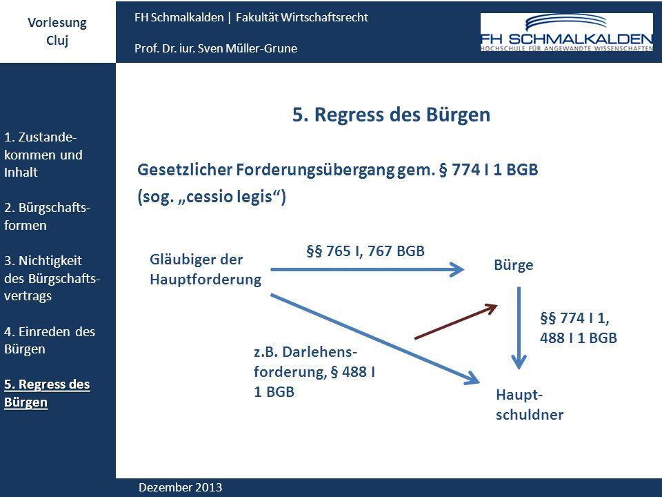 Vorlesung Cluj. FH Schmalkalden │ Fakultät Wirtschaftsrecht. Prof. Dr. iur. Sven Müller-Grune. 1. Zustande-kommen und Inhalt.