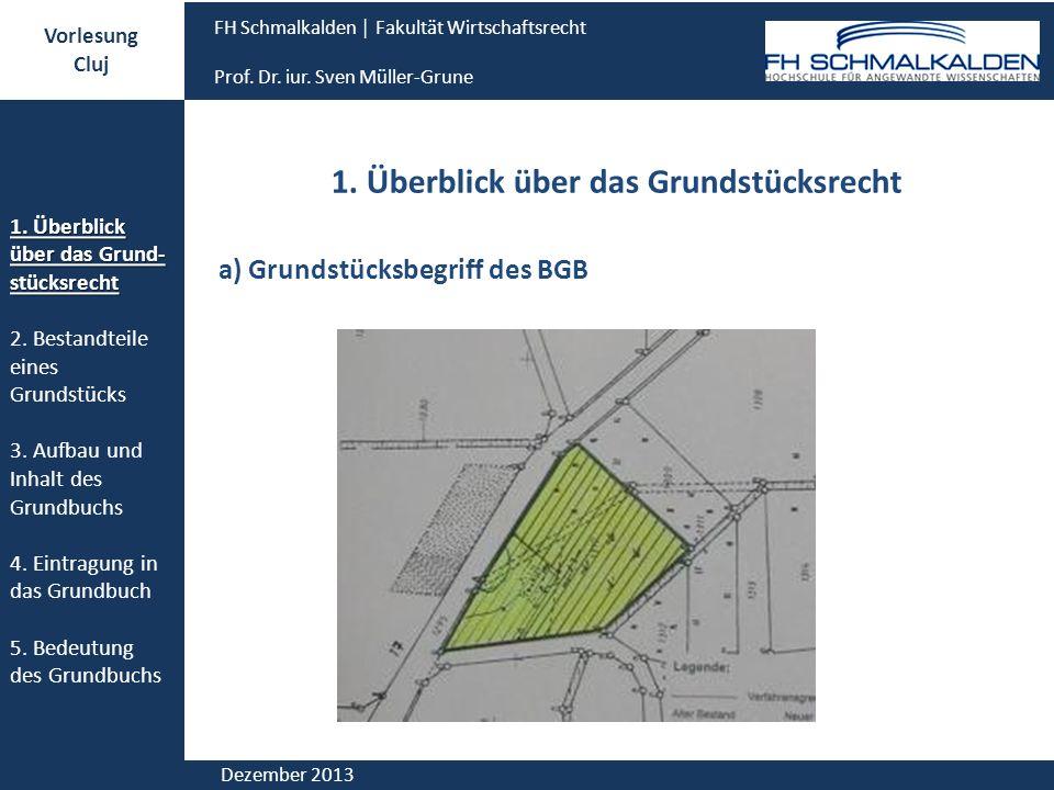 1. Überblick über das Grundstücksrecht