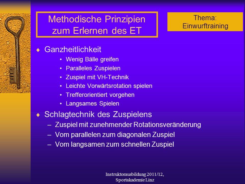 Methodische Prinzipien zum Erlernen des ET