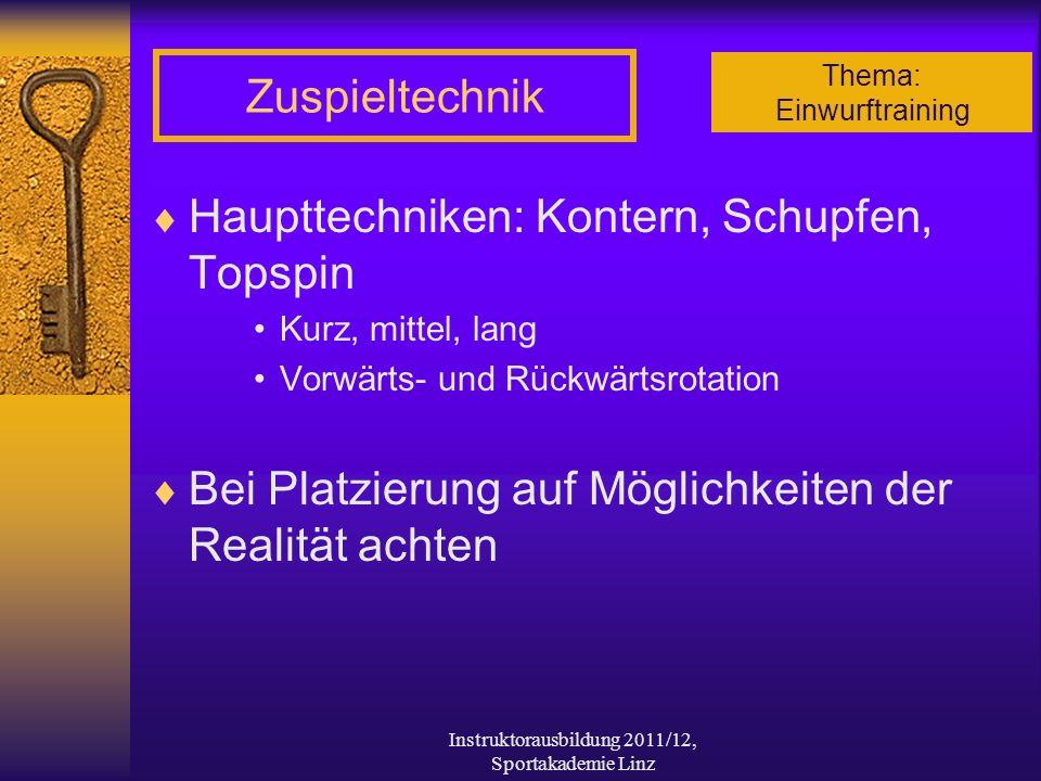 Instruktorausbildung 2011/12, Sportakademie Linz
