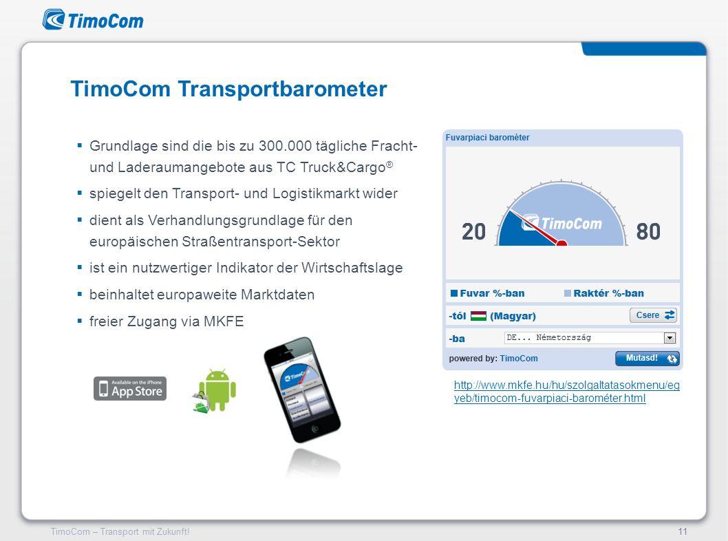 TimoCom Transportbarometer
