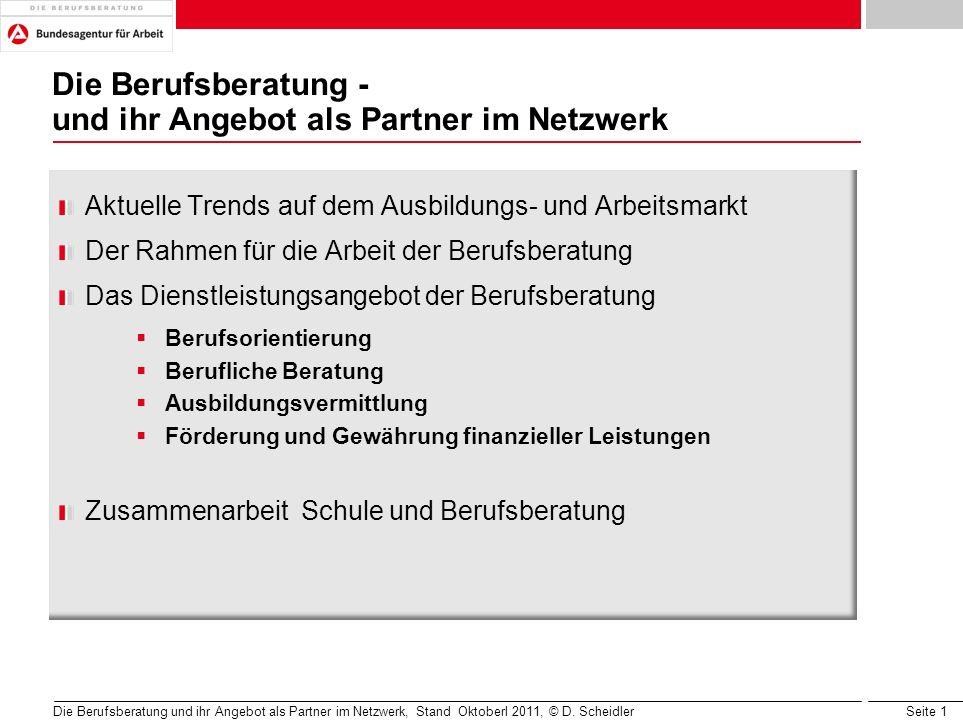 Die Berufsberatung - und ihr Angebot als Partner im Netzwerk