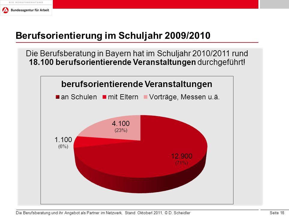 Berufsorientierung im Schuljahr 2009/2010