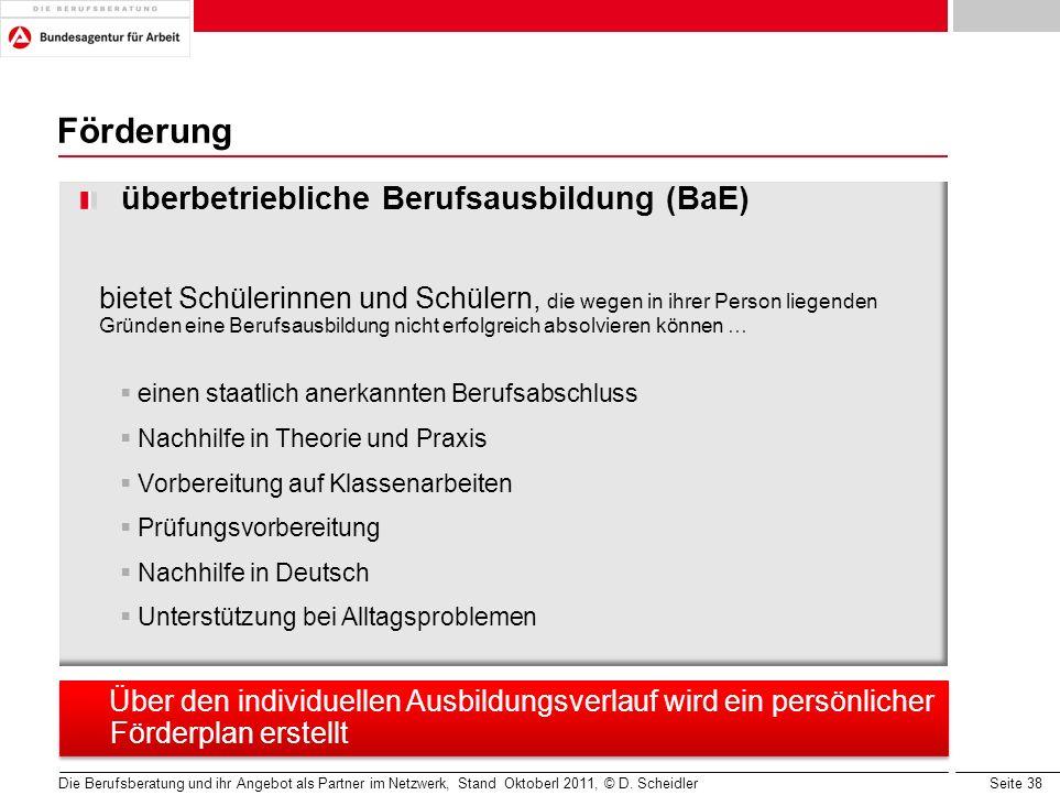 Förderung überbetriebliche Berufsausbildung (BaE)