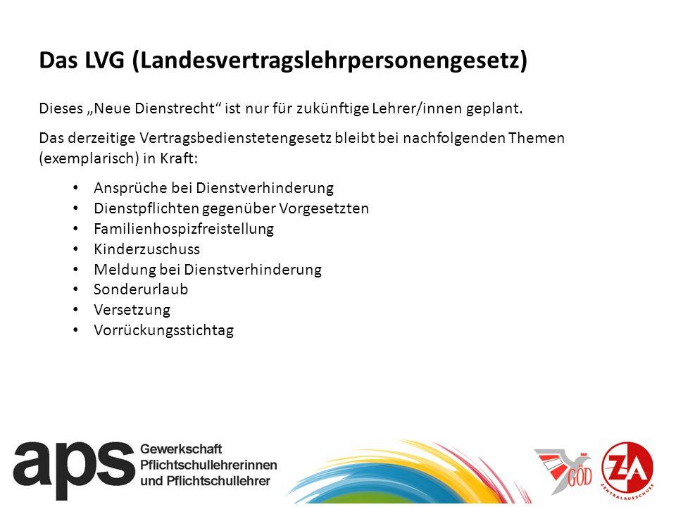 Das LVG (Landesvertragslehrpersonengesetz)