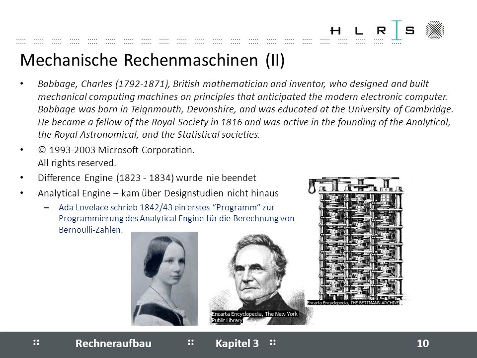 Mechanische Rechenmaschinen (II)
