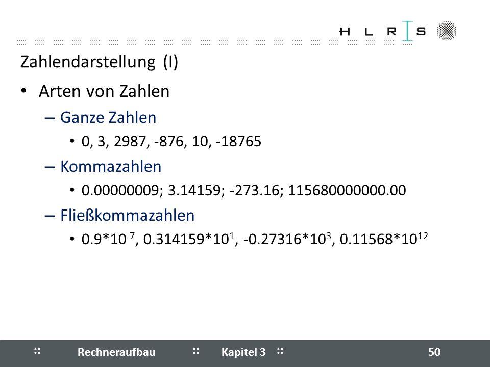 Zahlendarstellung (I)