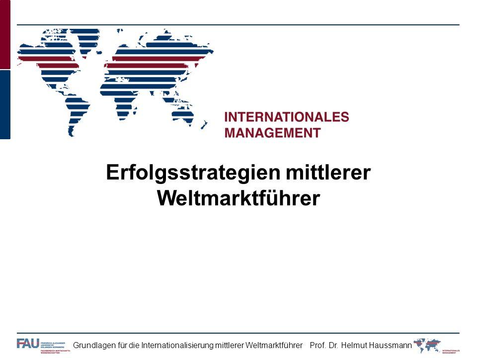 Erfolgsstrategien mittlerer Weltmarktführer