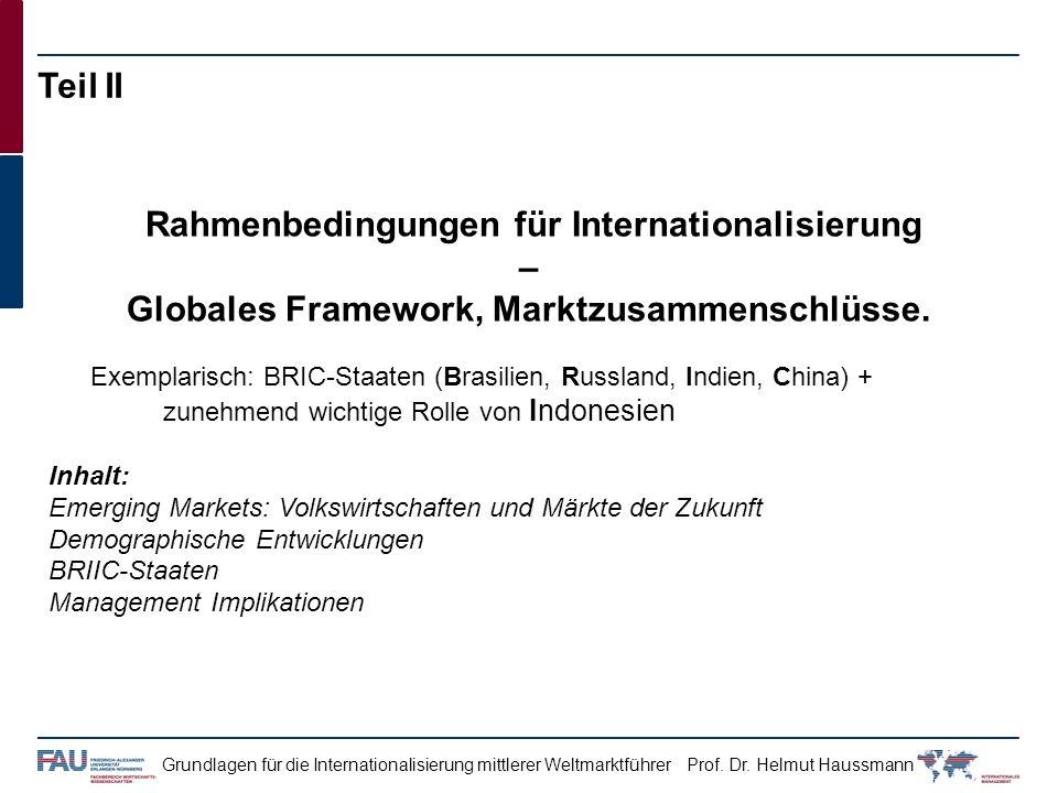 Globales Framework, Marktzusammenschlüsse.