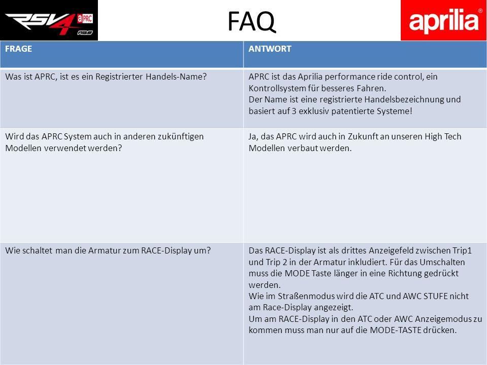 FAQ FRAGE ANTWORT Was ist APRC, ist es ein Registrierter Handels-Name