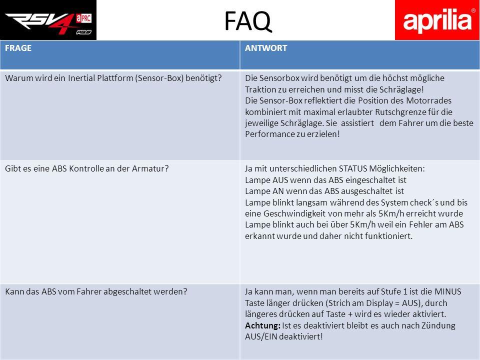 FAQ FRAGE. ANTWORT. Warum wird ein Inertial Plattform (Sensor-Box) benötigt