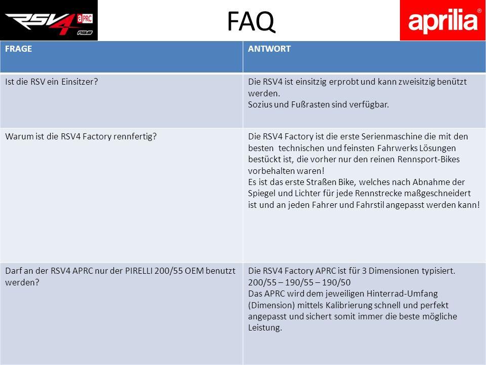 FAQ FRAGE ANTWORT Ist die RSV ein Einsitzer