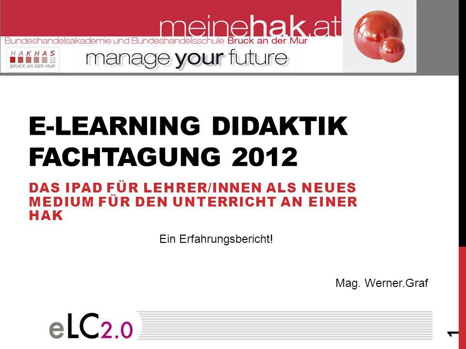 E-Learning Didaktik fachtagung 2012