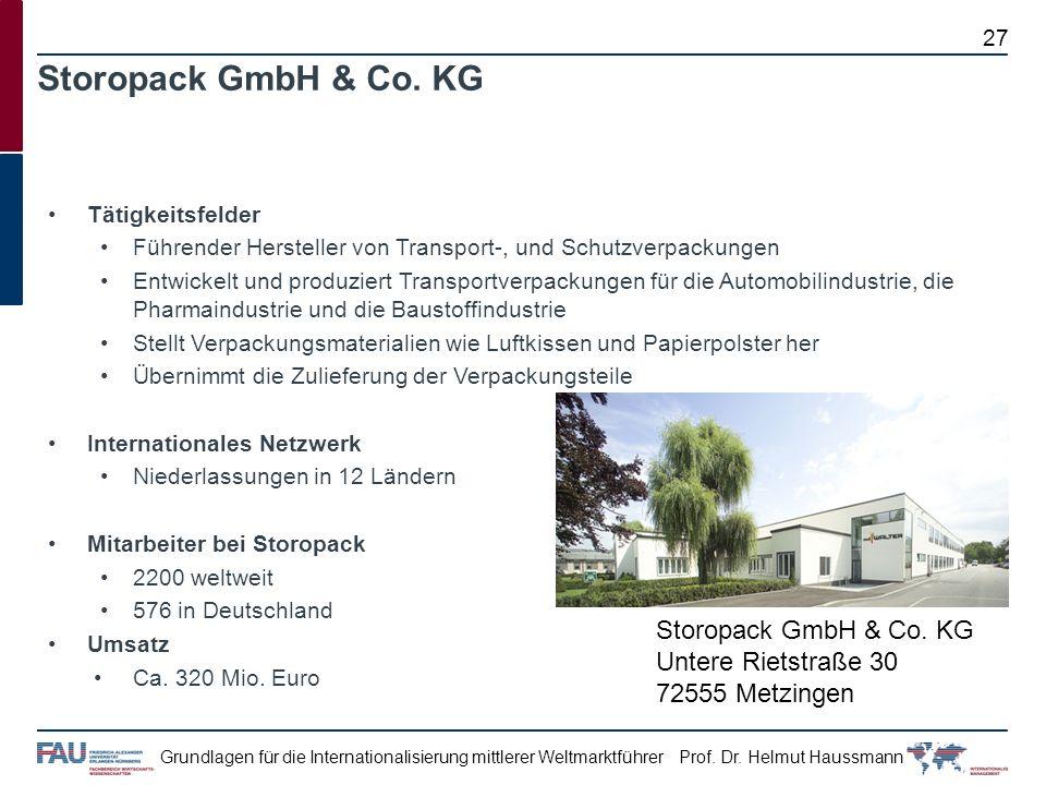 Storopack GmbH & Co. KG Storopack GmbH & Co. KG Untere Rietstraße 30
