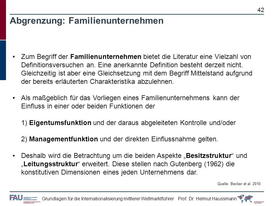 Abgrenzung: Familienunternehmen