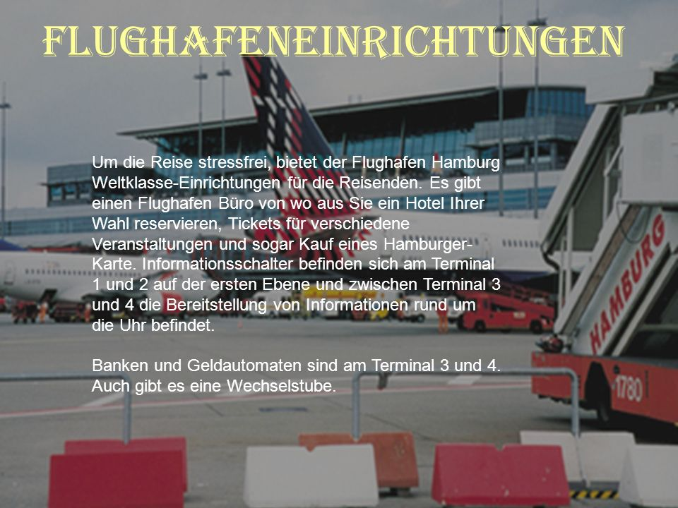 Flughafeneinrichtungen