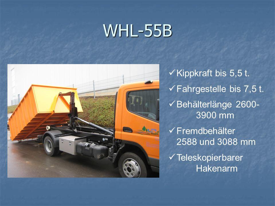 WHL-55B Kippkraft bis 5,5 t. Fahrgestelle bis 7,5 t.